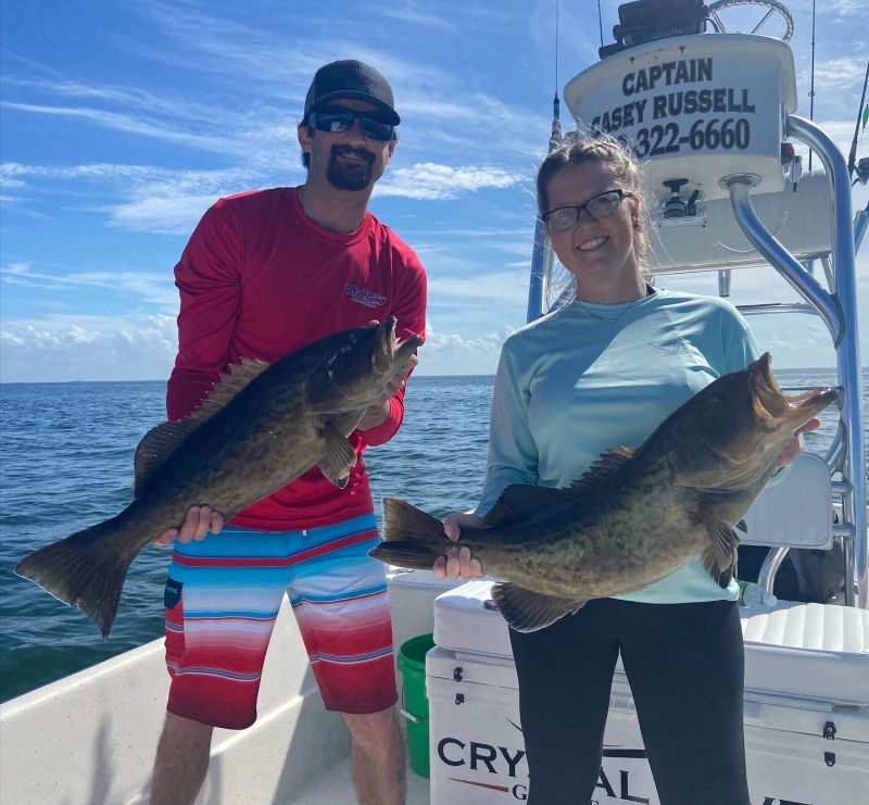 A picture of Sheepshead, Trout and Redfish with Crystal River Fishing Charters