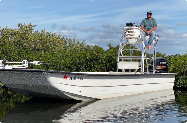 A picture of About Captain Casey Russell with Crystal River Fishing Charters